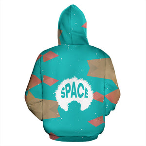 Turners Blue Zipper Hoodie - Afro Space