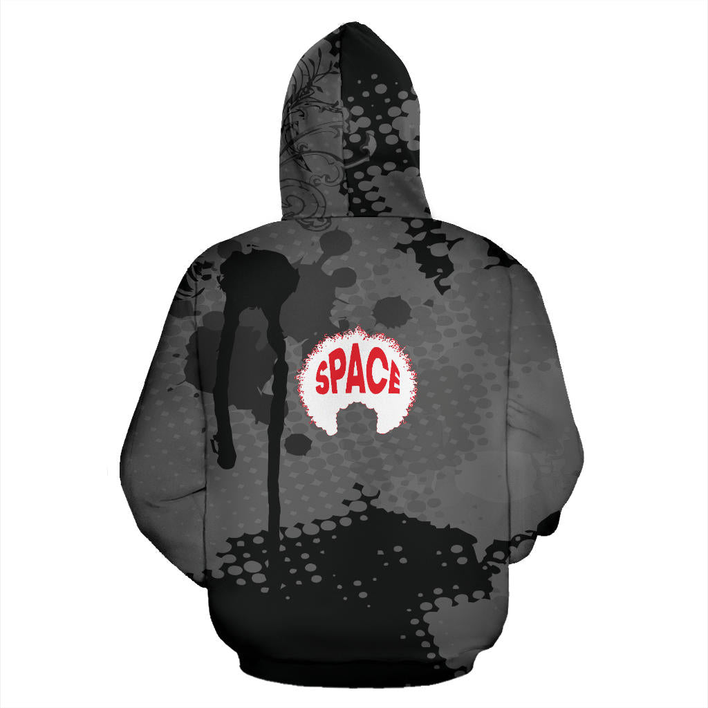 Afro Space Black Splatter - Afro Space
