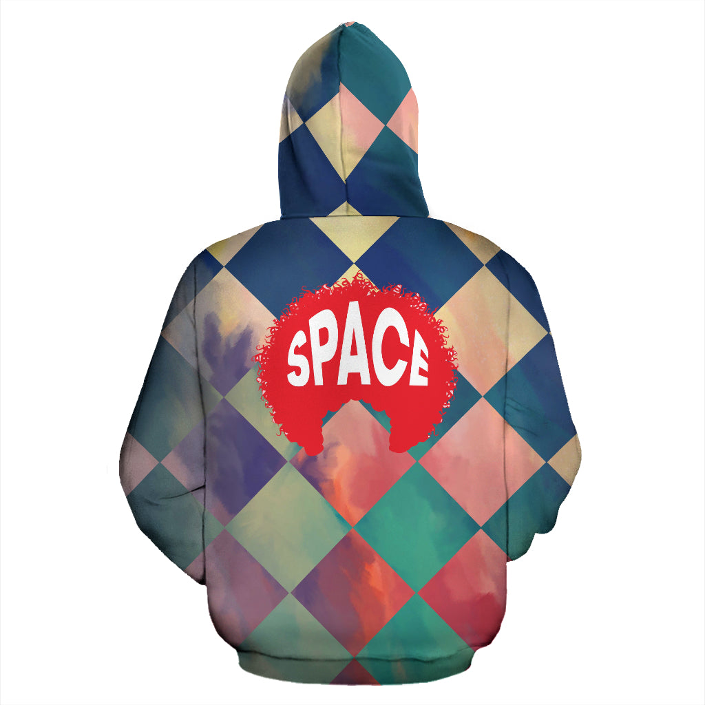 Afro Space Checkered Zipper Hoodie - Afro Space