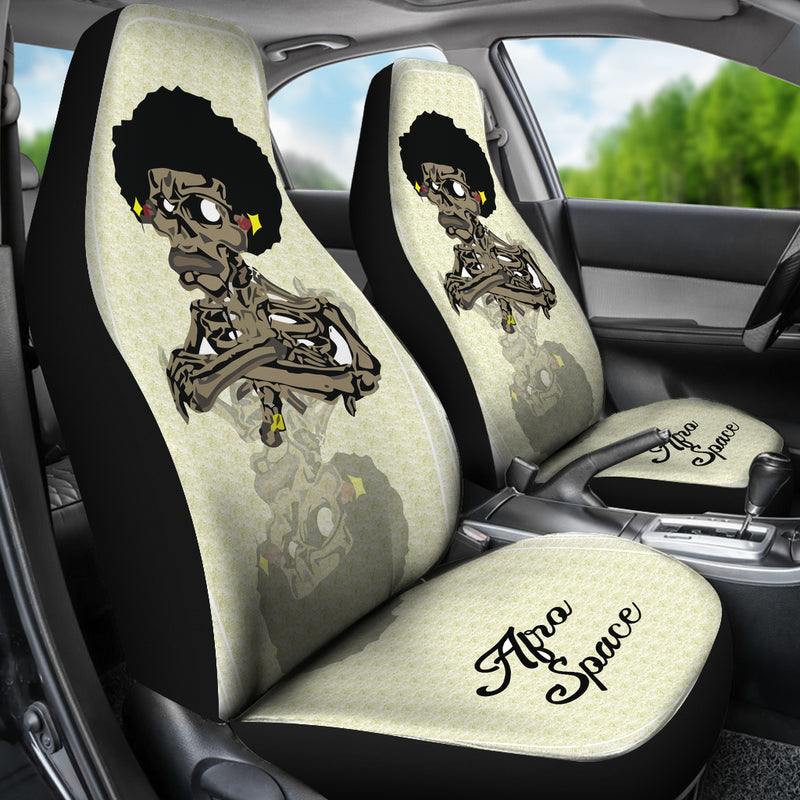 Afro Space Cross Armed Car Seat Covers - Afro Space