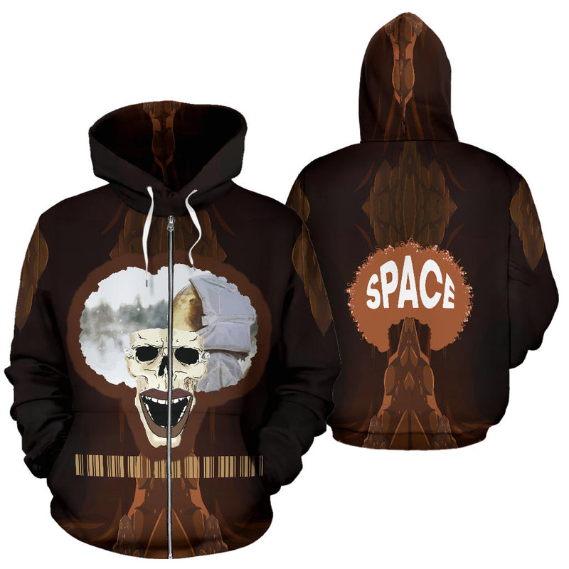 Afro Fusion Zipper Hoodie - Afro Space