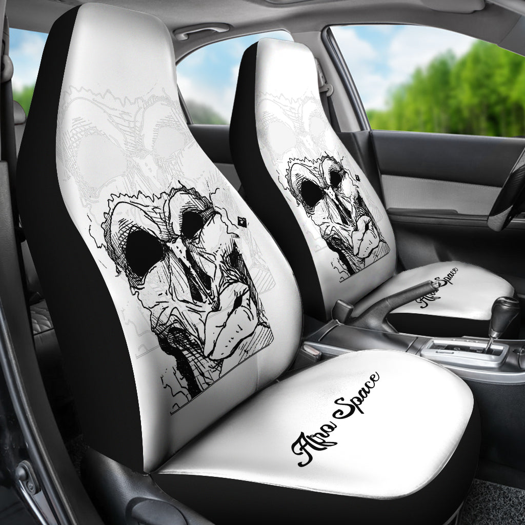 Afro Space Mean Mug Car Seat Covers