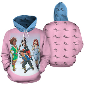 Afro Space Girls Hoodie - Afro Space