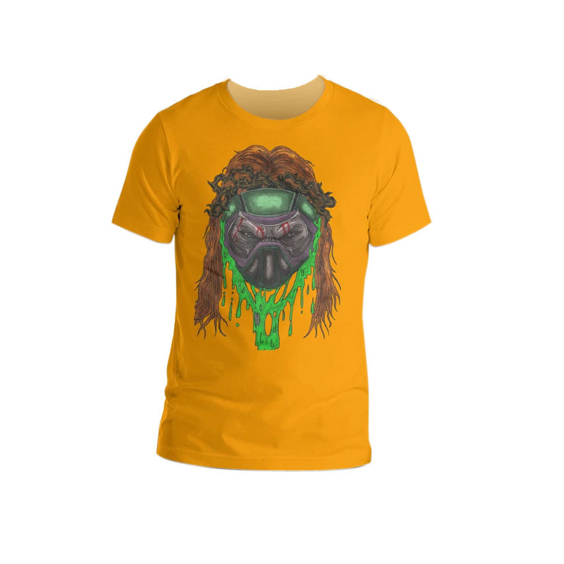 Men's Orange Toxic Skull Short-Sleeve Unisex T-Shirt - Afro Space