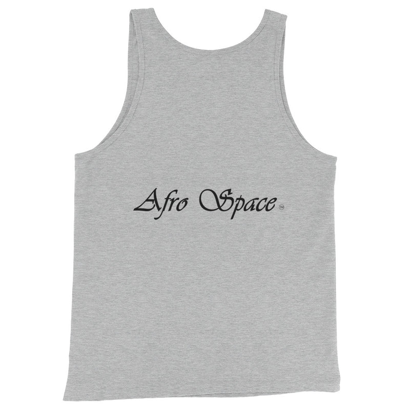 Unisex  Tank Top Cursive Afro Space - Afro Space