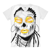 Afro Space Yellow Eye  All over Women's V-Neck T-Shirt - Afro Space