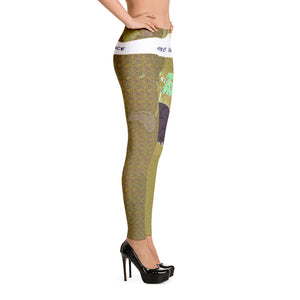 Green Afro Space Turner Leggings - Afro Space