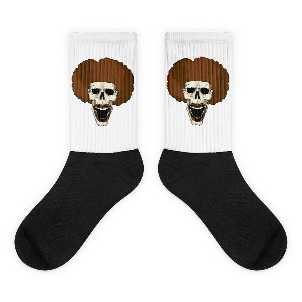 Afro Space Smile Socks - Afro Space