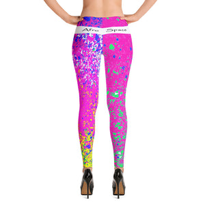 Hot Pink Themed Leggings - Afro Space