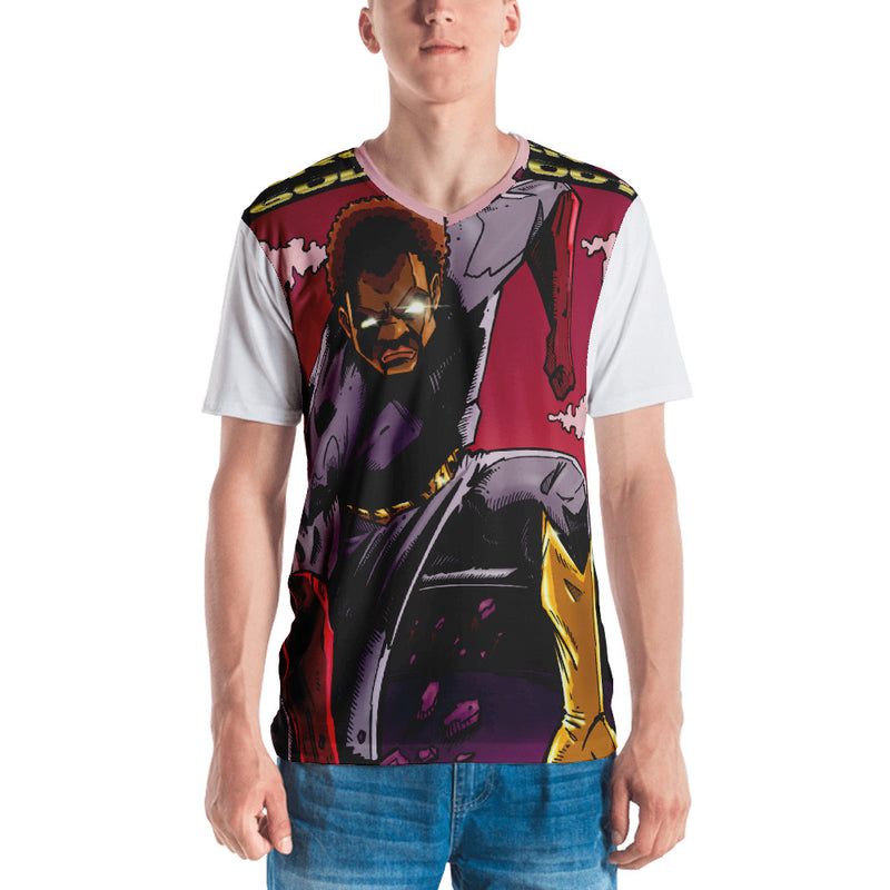 Brother Gold Boot #4 Men's T-shirt - Afro Space