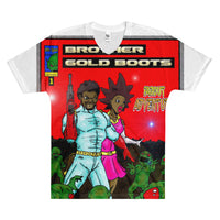 Brother Gold Boot #2 Men's V-Neck T-Shirt - Afro Space