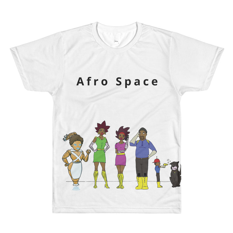 Afro Space Family All-Over Printed T-Shirt - Afro Space