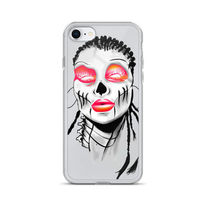 Afro Space Sista Girl Pink iPhone Case - Afro Space