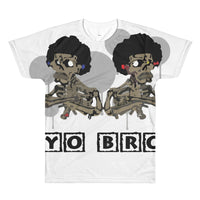 All-Over Afro Space Yo-Bro T-Shirt - Afro Space