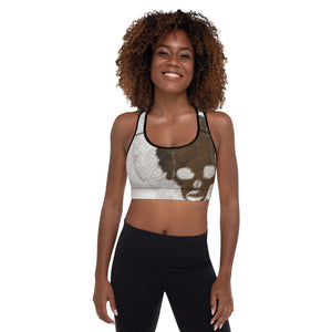 Chocolate Fusion Padded Sports Bra - Afro Space
