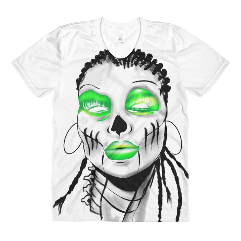 Sista Girl Green F&B Sublimation women's crew neck t-shirt