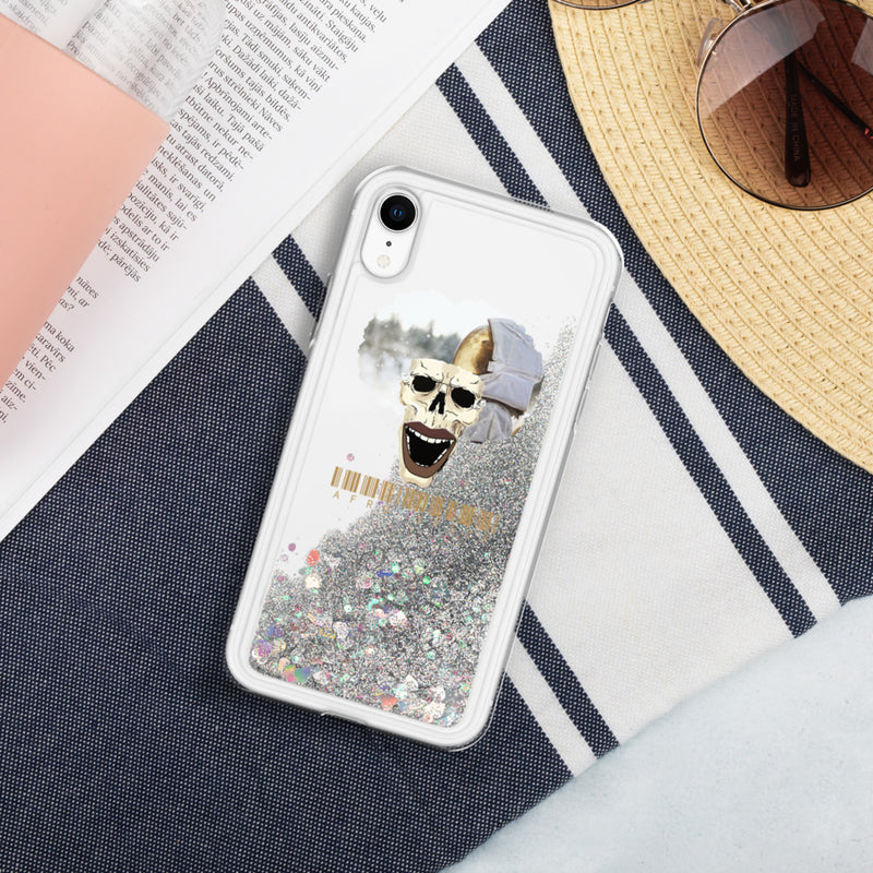 cosmonaut Liquid Glitter Phone Case - Afro Space