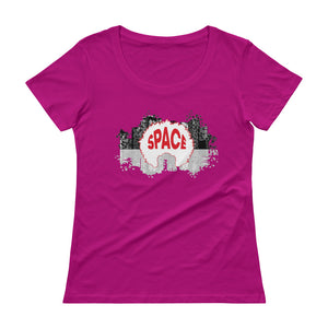 Afro Space EFTP Ladies' Scoopneck T-Shirt