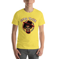 Back 2 School Mean Mug Short-Sleeve Unisex T-Shirt - Afro Space