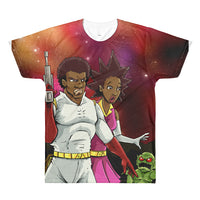 BGB All-Over Printed T-Shirt - Afro Space