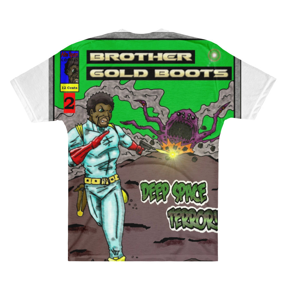 Brother Gold Boot Men's V-Neck T-Shirt - Afro Space