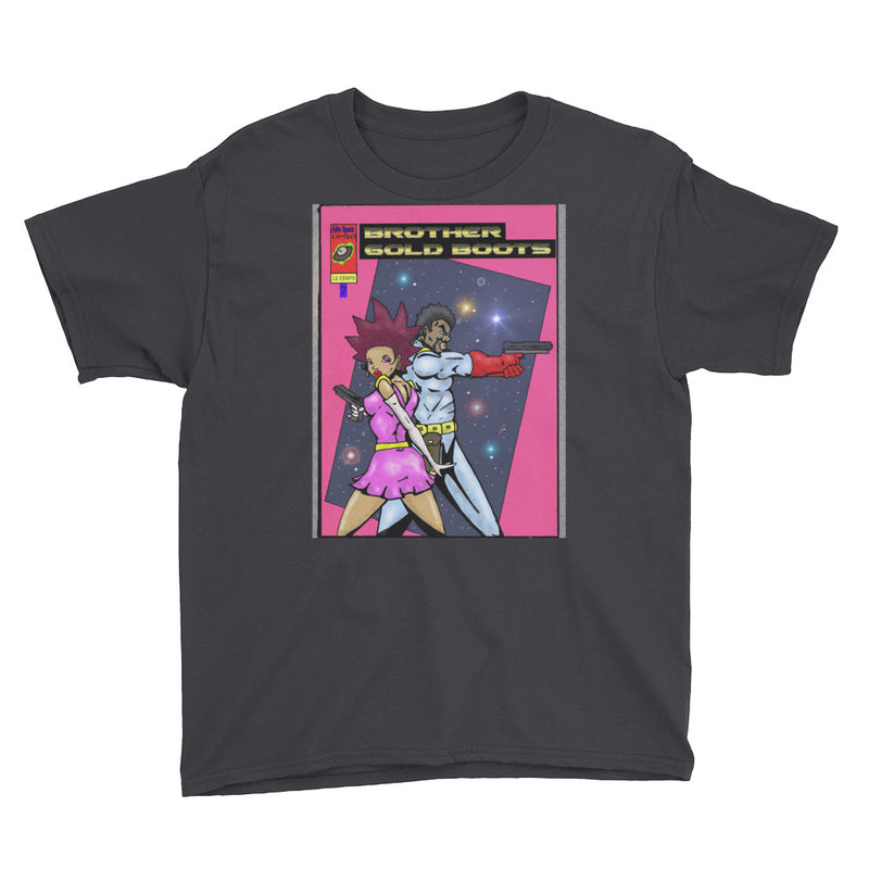 Afro Space GB Pink Youth Short Sleeve T-Shirt - Afro Space