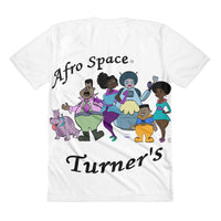 The Turner Sublimation women's crew neck t-shirt - Afro Space