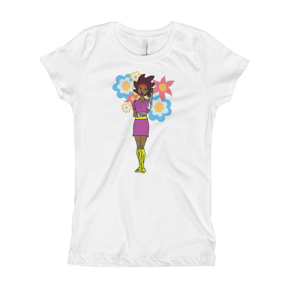 Afro Space Girl's T-Shirt