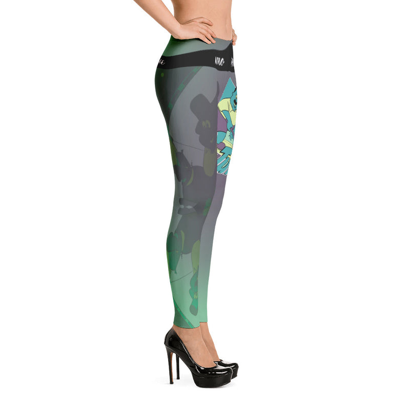 Green Turner Leggings - Afro Space