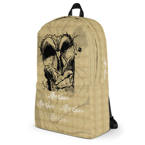 Afro Space Brown Mean Mug Backpack