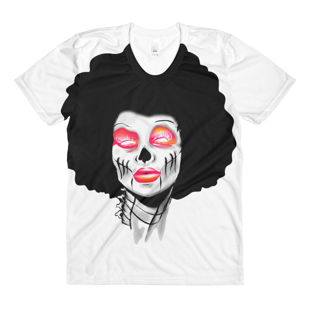 Sublimation women's crew neck t-shirt Sista Girl Pink Cursive - Afro Space
