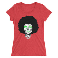 Sista Girl Green Afro Ladies V Neck - Afro Space