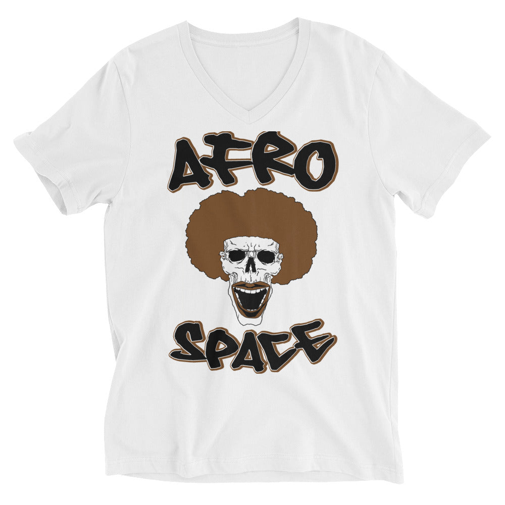Afro Space Unisex Short Sleeve V-Neck T-Shirt - Afro Space