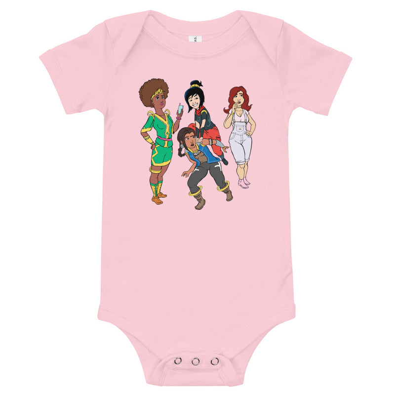 Female Baby Afro Space Girls T-Shirt - Afro Space