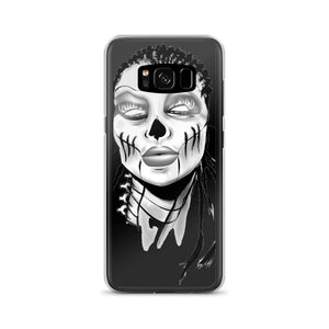 Afro Space SIsta Girl Grey Samsung Case