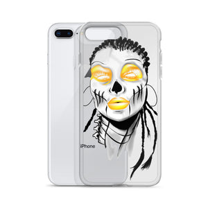 Afro Space Sista Girl Yellow iPhone Case - Afro Space