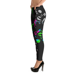 Paint Drip Themed Leggings - Afro Space