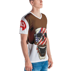 Afro Space American Flag Men's T-shirt