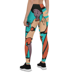 Turner Blue Leggings - Afro Space