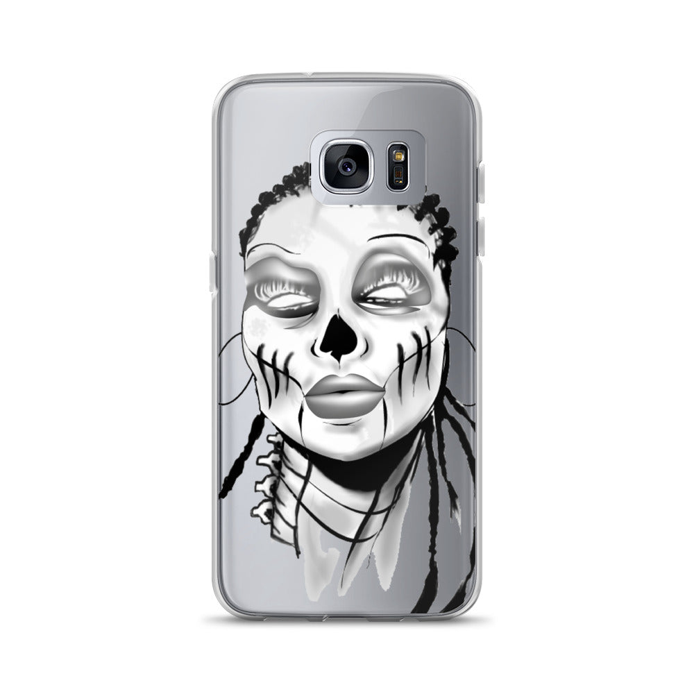Afro Space SIsta Girl Grey Samsung Case - Afro Space