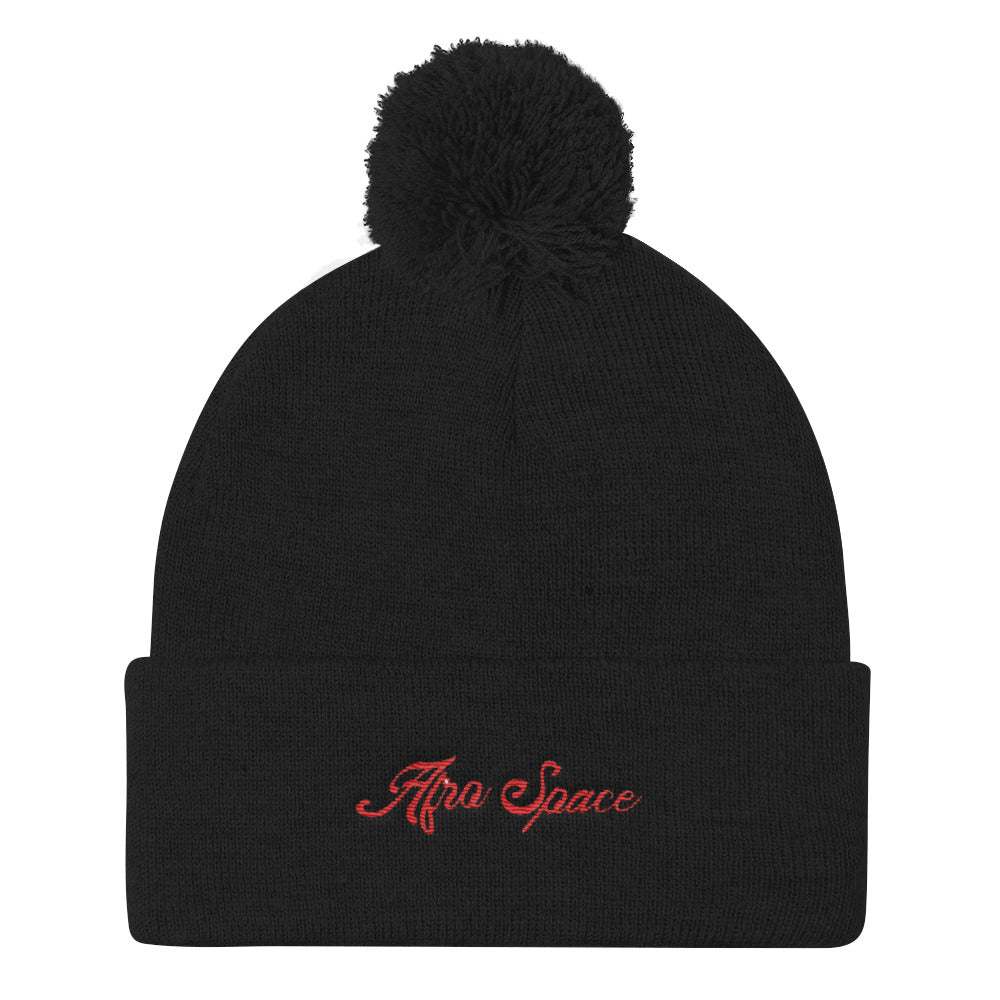 Afro Space Pom Pom Knit Cap - Afro Space
