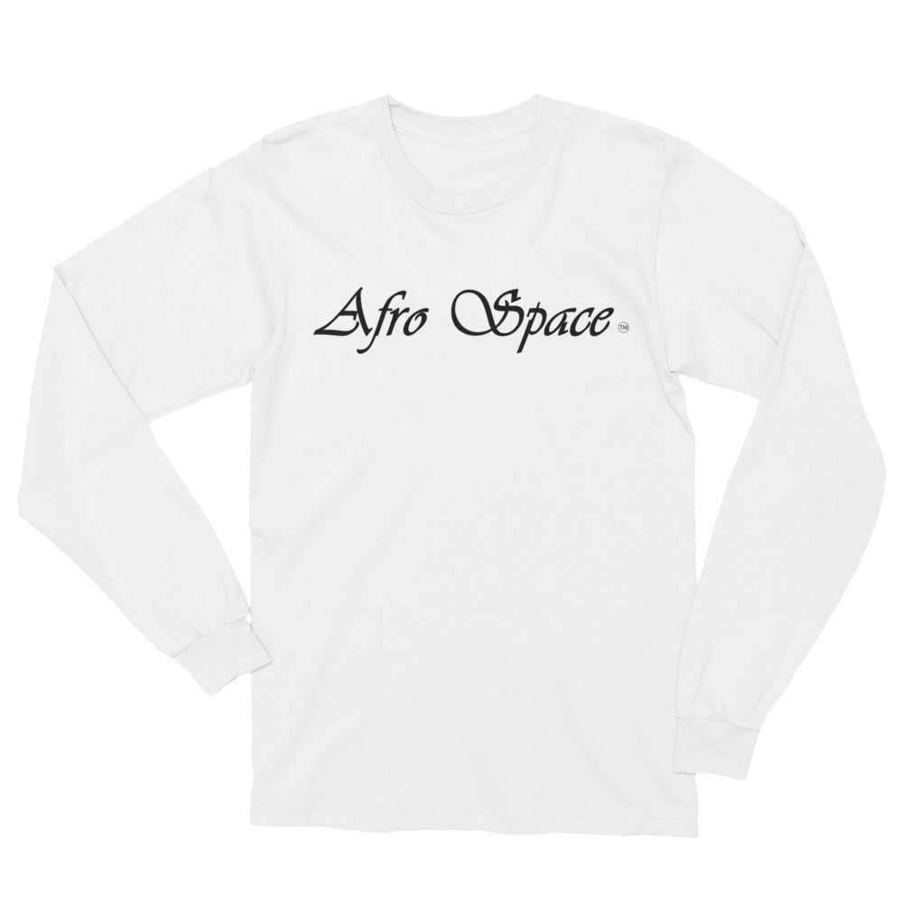 Unisex Long Sleeve T-Shirt Cursive Afro Space