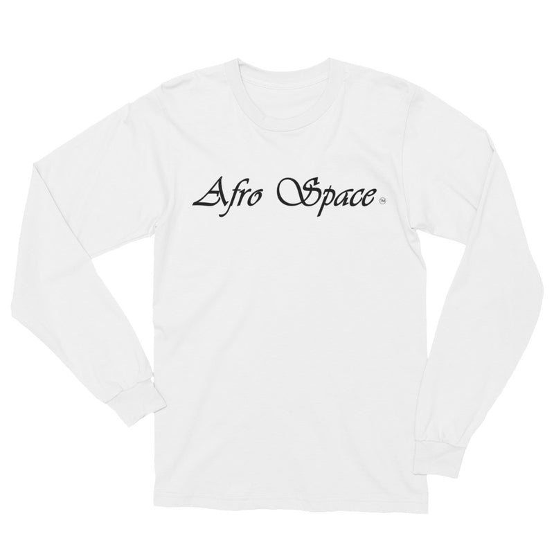 Unisex Long Sleeve T-Shirt Cursive Afro Space - Afro Space
