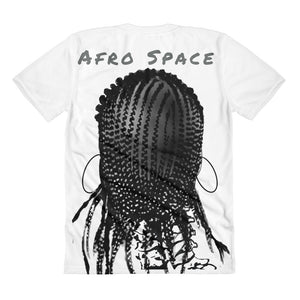 Sista Girl Grey F&B Sublimation women's crew neck t-shirt - Afro Space