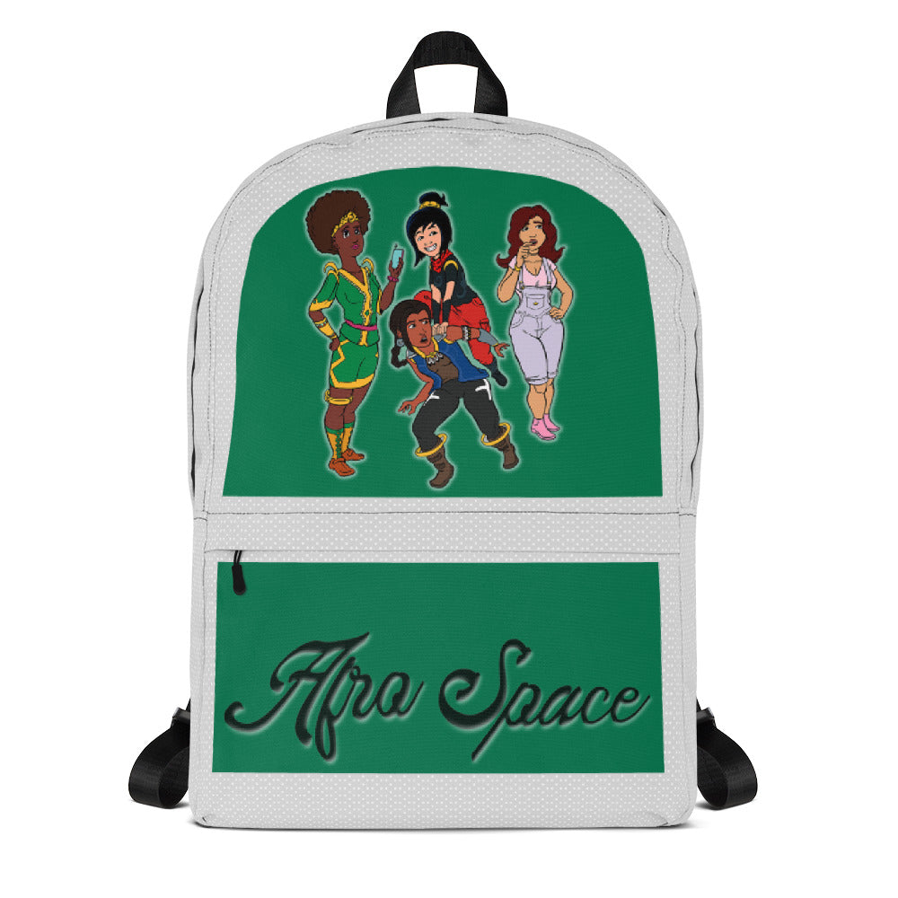 Afro Space  Hanging Out Girls Backpack