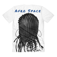 Sista Girl Blue F&B Sublimation women's crew neck t-shirt - Afro Space