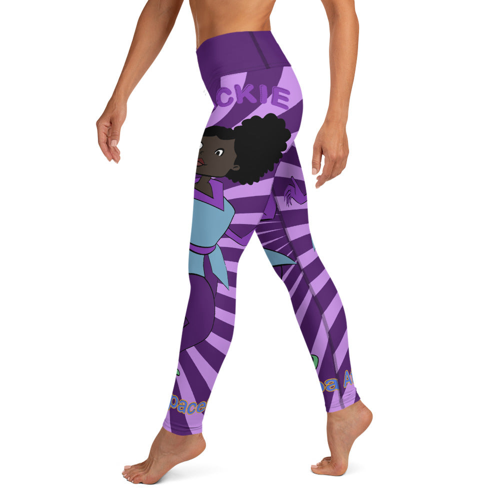 Purple Jackie Yoga Leggings - Afro Space