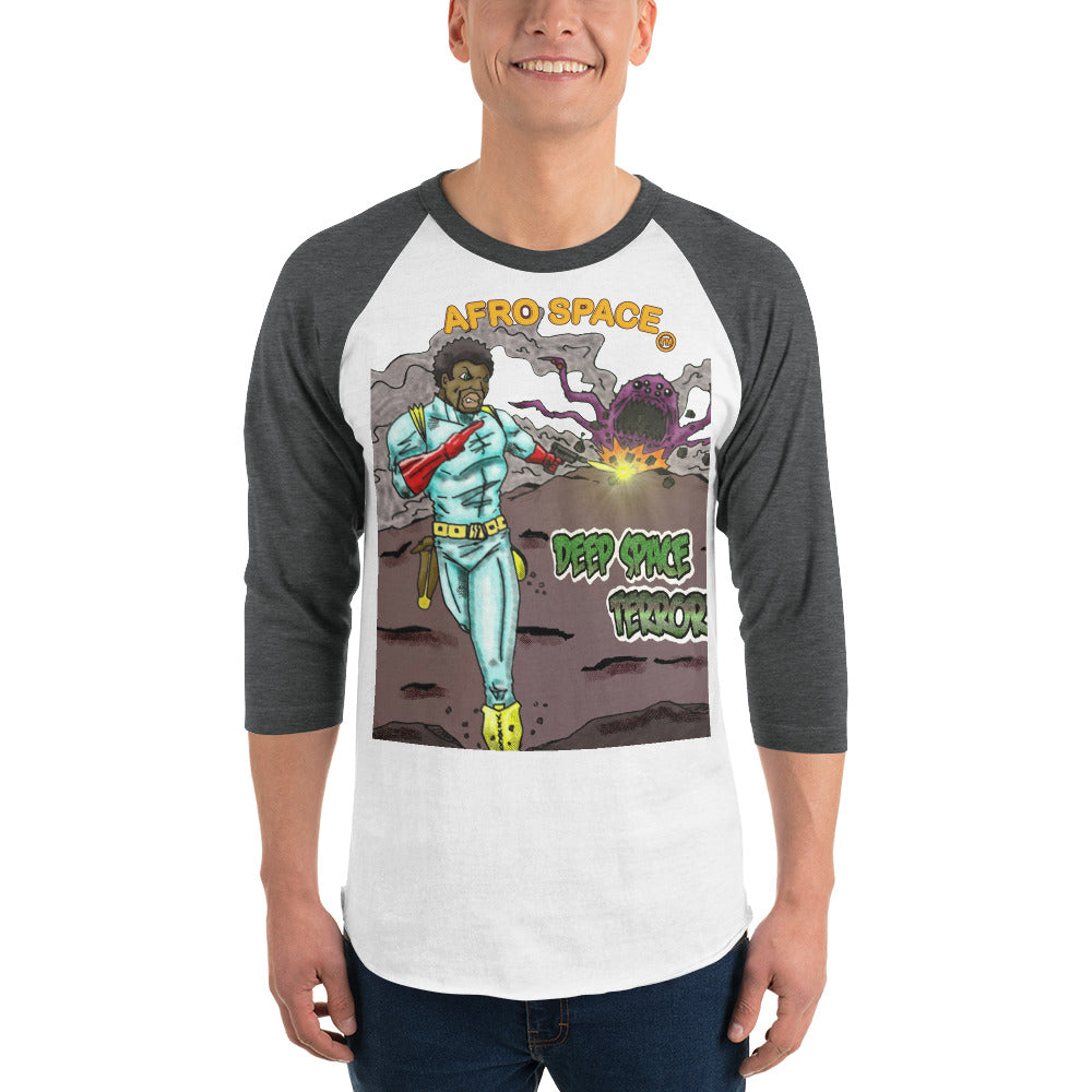 3/4 sleeve raglan shirt BG Super Hero - Afro Space