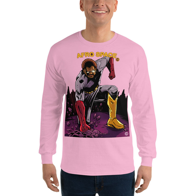 Long Sleeve T-Shirt BG Super Hero 5 - Afro Space