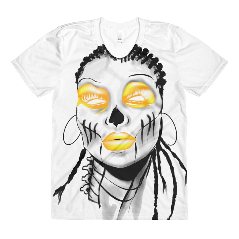 Sista Girl Yellow F&B Sublimation women's crew neck t-shirt - Afro Space
